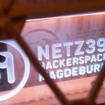 Leuchtschild Netz39 Hackerspace Magdeburg