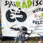 Fahrrad vor SoliRADisch Transparent