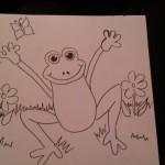 Ausmalseite mit Frosch