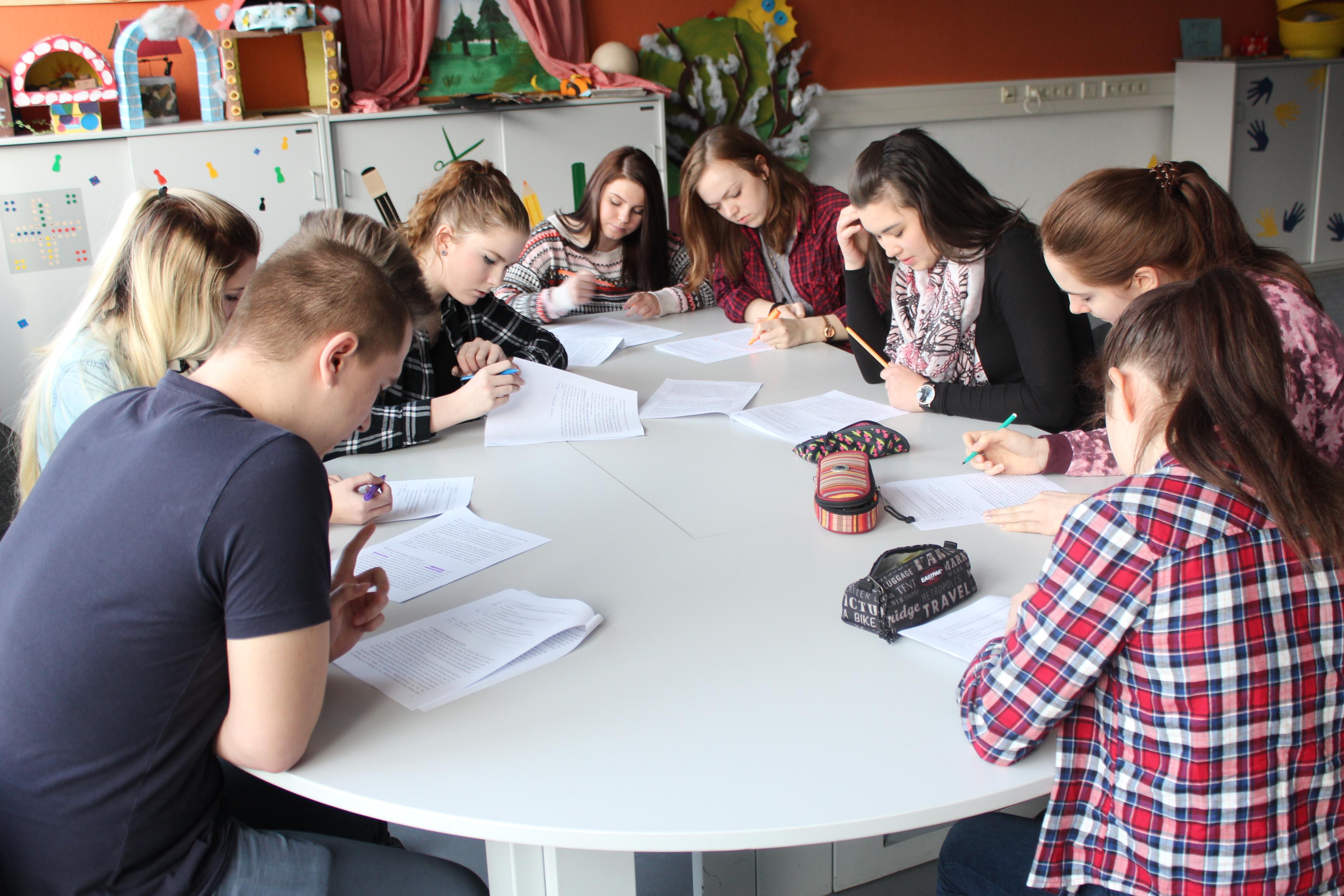 Fraktionssitzung beim Planspiel